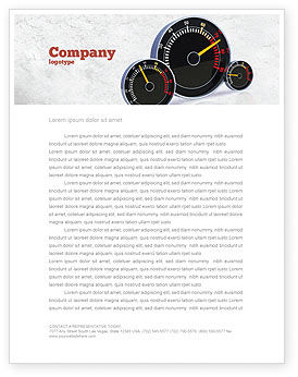 Cars/Transportation: Speedo Letterhead Template #04804