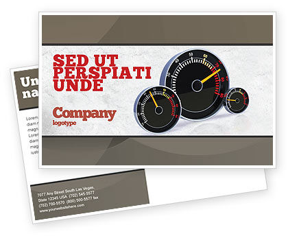 Cars/Transportation: Speedo Postcard Template #04804