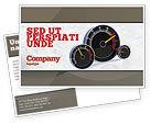 Cars/Transportation: Speedo Postcard Template #04804