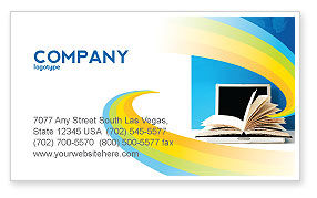 eLearning Business Card Template, 04807, Education & Training — PoweredTemplate.com