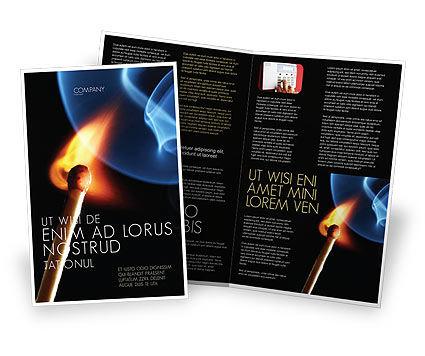 Gas Cooker Brochure Template, 04808, Business Concepts — PoweredTemplate.com