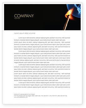 Business Concepts: Gas Cooker Letterhead Template #04808