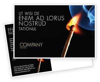 Gas Cooker Postcard Template, 04808, Business Concepts — PoweredTemplate.com