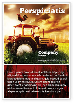 Summer On The Farm Ad Template, 04809, Agriculture and Animals — PoweredTemplate.com