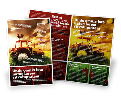 Summer On The Farm Brochure Template, 04809, Agriculture and Animals — PoweredTemplate.com