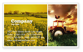 Summer On The Farm Business Card Template, 04809, Agriculture and Animals — PoweredTemplate.com