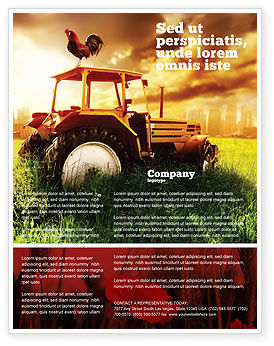 Agriculture and Animals: Summer On The Farm Flyer Template #04809