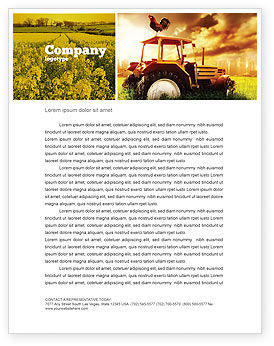 Summer On The Farm Letterhead Template, 04809, Agriculture and Animals — PoweredTemplate.com