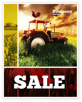 Agriculture and Animals: Summer On The Farm Sale Poster Template #04809