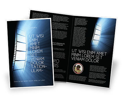 film festival brochure template - film tape brochure template design and layout download