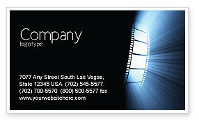 Film Tape Business Card Template, 04812, Careers/Industry — PoweredTemplate.com