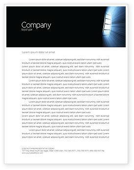 Film Tape Letterhead Template, 04812, Careers/Industry — PoweredTemplate.com