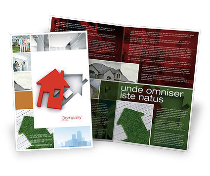 Housing Solution Brochure Template, 04813, Financial/Accounting — PoweredTemplate.com