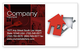 Financial/Accounting: Housing Solution Business Card Template #04813