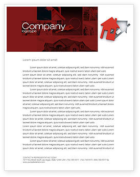 Housing Solution Letterhead Template, 04813, Financial/Accounting — PoweredTemplate.com