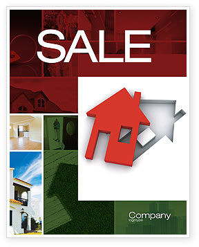 Financial/Accounting: Housing Solution Sale Poster Template #04813