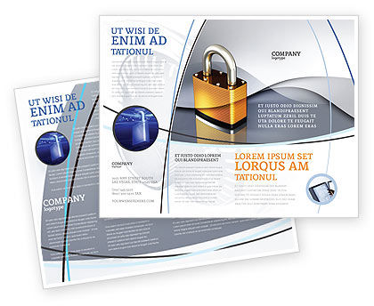 Lock Brochure Template, 04814, Consulting — PoweredTemplate.com
