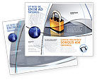 Consulting: Lock Brochure Template #04814