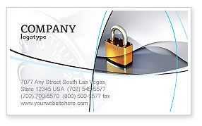 Lock Business Card Template, 04814, Consulting — PoweredTemplate.com