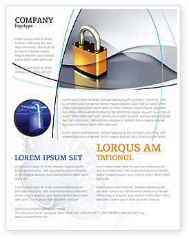 Lock Flyer Template, 04814, Consulting — PoweredTemplate.com