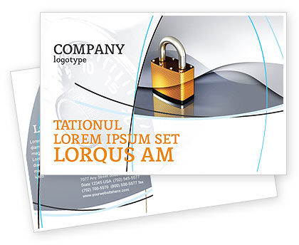 Lock Postcard Template, 04814, Consulting — PoweredTemplate.com