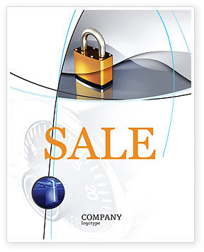 Lock Sale Poster Template, 04814, Consulting — PoweredTemplate.com