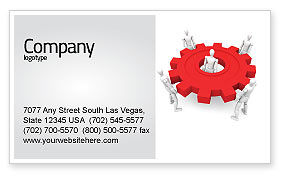 Working Gear Business Card Template