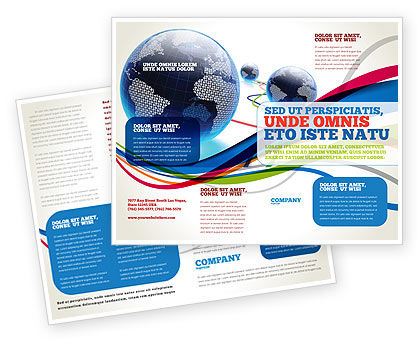 Attractive World Web Brochure Template, 04819, Telecommunication U2014 PoweredTemplate.com