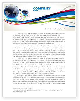 Telecommunication: World Web Letterhead Template #04819