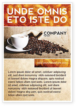 Food & Beverage: Coffee Break With Cappuccino Ad Template #04820