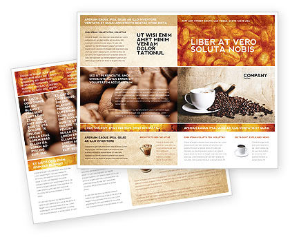 Coffee Break With Cappuccino Brochure Template