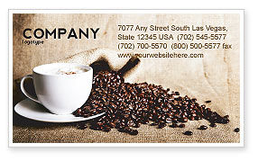 Coffee Break With Cappuccino Business Card Template