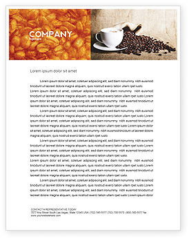 Coffee Break With Cappuccino Letterhead Template, 04820, Food & Beverage — PoweredTemplate.com