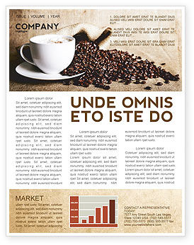 Food & Beverage: Coffee Break With Cappuccino Newsletter Template #04820