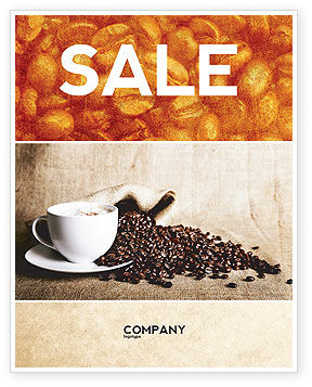 Coffee Break With Cappuccino Sale Poster Template, 04820, Food & Beverage — PoweredTemplate.com