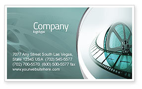 Film Reel Business Card Template, 04827, Careers/Industry — PoweredTemplate.com