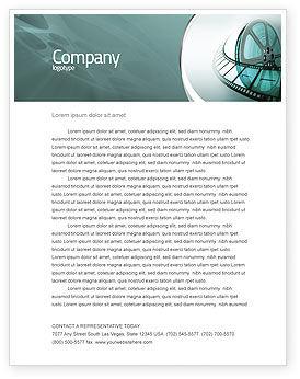 Filmrolle Briefkopf Vorlage, 04827, Karriere/Industrie — PoweredTemplate.com