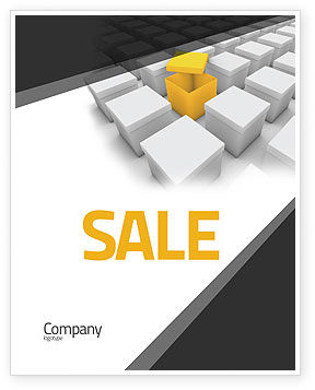 Open Box Sale Poster Template