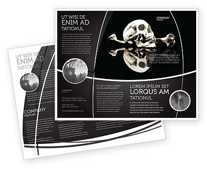 Education & Training: Skull And Bone Brochure Template #04834