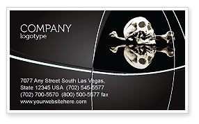 Skull And Bone Business Card Template, 04834, Education & Training — PoweredTemplate.com