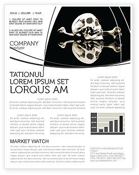 Education & Training: Skull And Bone Newsletter Template #04834