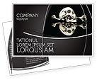 Education & Training: Skull And Bone Postcard Template #04834