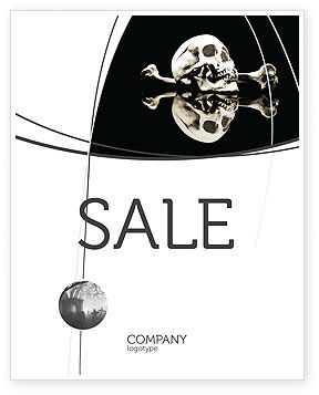 Skull And Bone Sale Poster Template