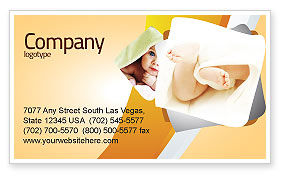 Little Feet Business Card Template, 04837, Education & Training — PoweredTemplate.com