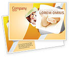 Education & Training: Little Feet Postcard Template #04837