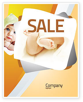 Little Feet Sale Poster Template, 04837, Education & Training — PoweredTemplate.com