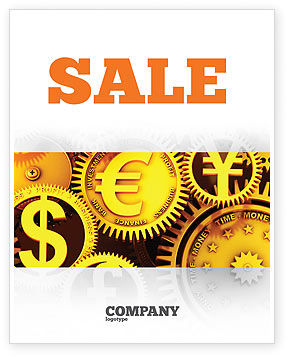 Finance Sale Poster Template, 04839, Financial/Accounting — PoweredTemplate.com