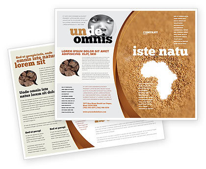African Famine Brochure Template, 04841, General — PoweredTemplate.com