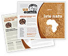 General: African Famine Brochure Template #04841
