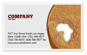 African Famine Business Card Template, 04841, General — PoweredTemplate.com